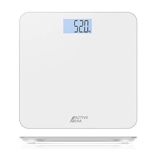 Active EraTM Báscula de Baño Digital Ultrafina con Sensores de Alta Precisión (stones/kgs/libras) - Blanco