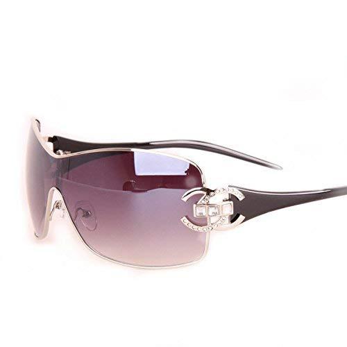 Frau HAOYUXIANG Persönlichkeit Metall Sonnenbrille Retro-Trend,TeaColor