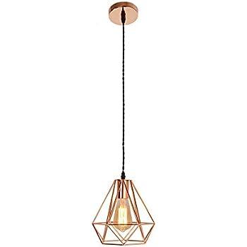 Lumières Or Rose Suspension Moderne Cuivre Suspendue Placage Lampe Y6vyb7fmIg