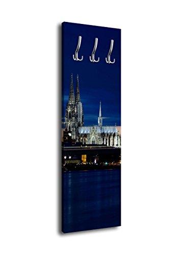 Wandmotiv24 Perchero diseño Catedral Colonia Noche