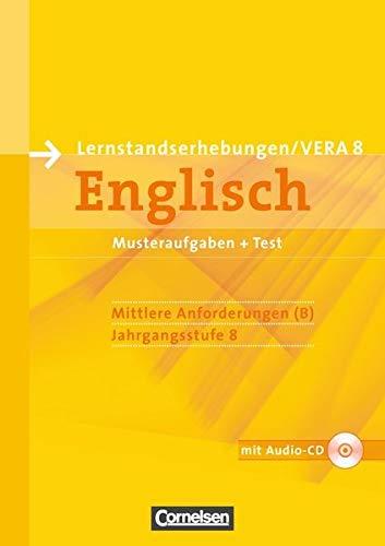Vorbereitungsmaterialien für VERA - Englisch / 8. Schuljahr: Mittlere Anforderungen - Arbeitsheft mit Audio-Materialien