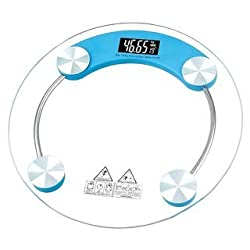 Ezzideals Thick Tempered Glass Electronic Digital Personal Weighing Scale
