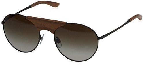 Giorgio Armani Herren AR6017TK Sonnenbrille, Grau (Grey/Brown 30848E), One size (Herstellergröße: 54)