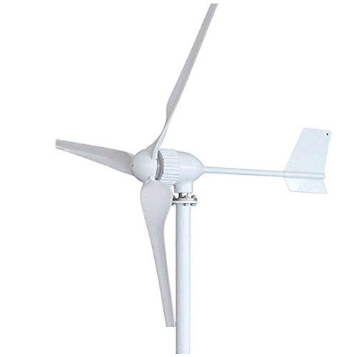 vogvigo 800W 3Klingen Wind Turbine Generator Kit, Wind Power System für Aufladen der Akkus für Werkstatt/Garage/Küste/Mountain/Landwirtschaftliche Felder–24V (keine MPPT)