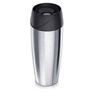 Arendo - Thermal mug made stainless steel | double-walled thermos with vacuum insulation | 400 ml | coffee cup | Thermal bottle | no BPA
