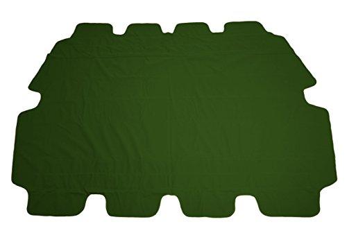 Ersatzdach für Hollywoodschaukel in grün - Universalgröße / Wasserdicht - Sonnendach Hollywoodschaukel Dach PVC