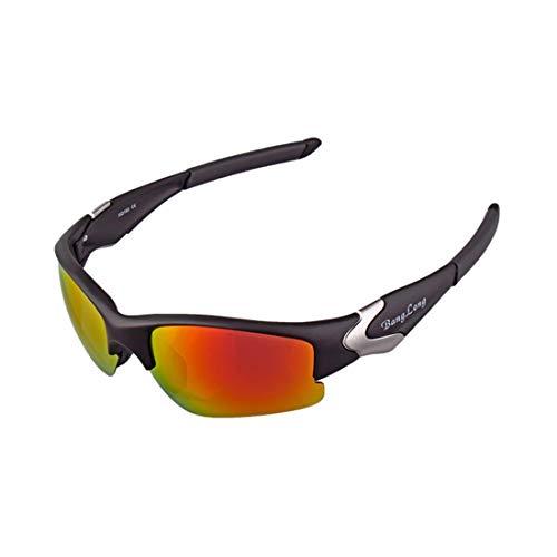 LBWNB Sportsonnenbrillen-CrazyFire UV 400 Schutz Unzerbrechliche Sportgläser Sonnenbrille Anti-UV-Sport-Outdoor-Sonnenmesslampen Reiten Photochromische Radnachrichtenlampen,Brown
