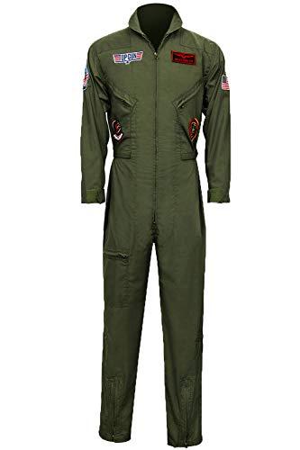 orce Fighter Pilot Erwachsenenkostüm Wingman Jumpsuit Halloween Cosplay Party Anzüge Grün - grün - XXX-Large ()