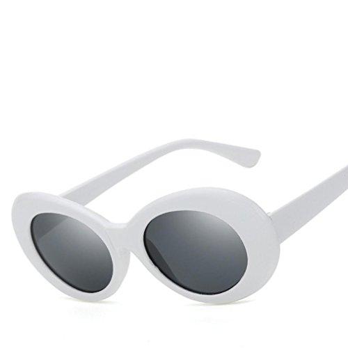 SANFASHION damen herren Unisex Student Große Box Designer Fashion Plain Glass Sonnenbrille (Wayfarer Gläser Plain)