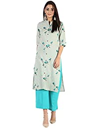 RAJMANDIRFABRICS Women's Cotton Straight Kurta with Pant Set