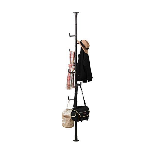 soges Garderobenständer Kleiderständer Stainless Steel Boden bis zur Decke Wäscheständer Corner Coat Kleiderbügel Pole Kleiderständer, Tension Wäscheständer, Heavy Duty Metal Coat Tree,KS-D6011-B - Tree Coat