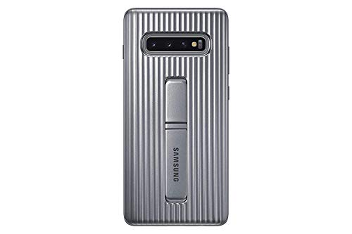 Protective Standing Cover für Galaxy S10+ Silber Case Protective Film