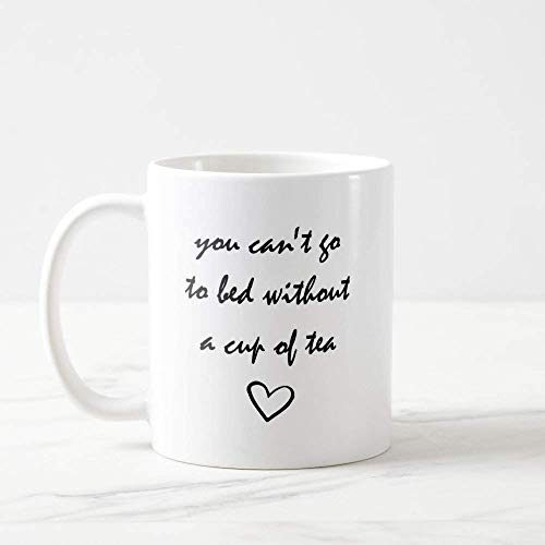 Tasse Little Things You Cant Go To Bed Without A Cup Tee One Direction 1D 1D Kaffeetasse One Direction Geschenke, 325 ml, Weiß ()