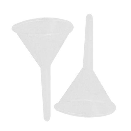 """sourcingmap® 2 Teile 75 Ml 2 31/32"""" Mund Durchmesser Labor Klar Weiße Plastik Filter Trichter DE de"""