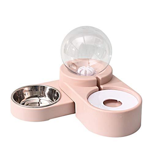 Trinkbrunnen, Trinkbrunnen For Katzen, Hund Katzenwasserspender Schüssel Schwerkraft Haustiere Tränke Futterautomat Selbstbewässerungsschalen Trinkbrunnen For Katzen Hunde 1.8L ( Color : Pink )