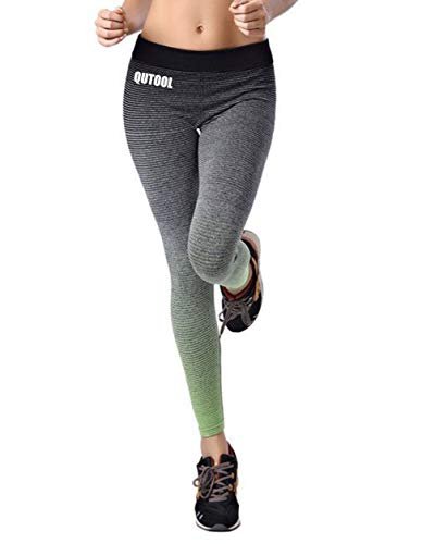 QUTOOL Damen Sport Hose Yoga Leggings Strumpfhosen Workout Hose Running Hose -