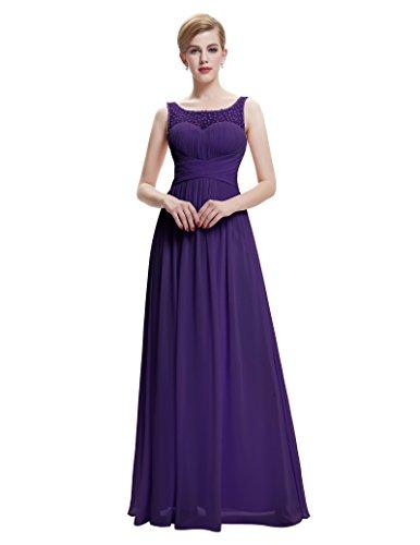 Damen lang evening dress abendkleid ärmellos sommerkleid geburtstag kleid hochzeitskleid ST061-6 34