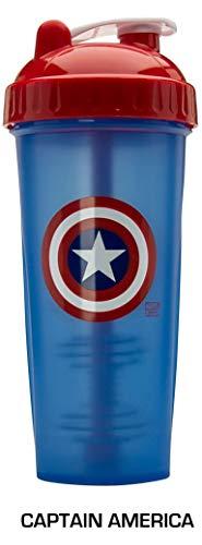Marvel Shakers Shaker Eiweißshaker Proteinshaker Fitness 800ml Fassungsvermögen (Captain America)... ()