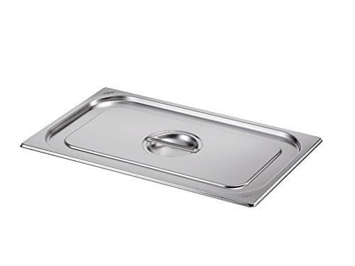 Saro Löffelaussparung 1/3 GN Gastronormbehälter, Edelstahl, Silber, 17.6 x 32.5 x 2.5 cm Bain Marie Container