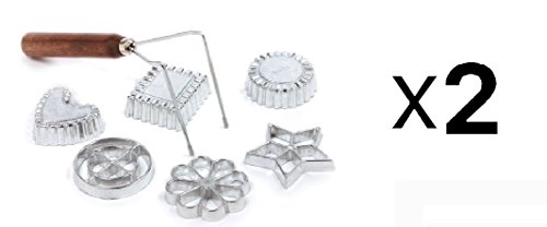 Norpro Swedish Rosette Cookie & Timbale Pastry Set 6 Molds New (2-Pack) Rosette Timbale
