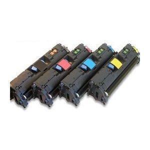 4er SET Eurotone Premium Toner remanufactured für HP Color Laserjet 1500 2550 L LN N TN + 2820 2840 N AIO - kompatibel ersetzt Q3960A Q3961A Q3962A Q3963A (Q3963a Set)