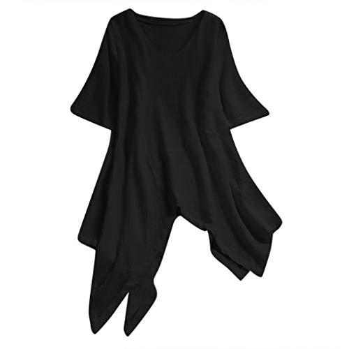 HOOPERT Camisetas V Cuello Casual Cold Shoulder Blusa Noche Fiesta Tops Camisas...