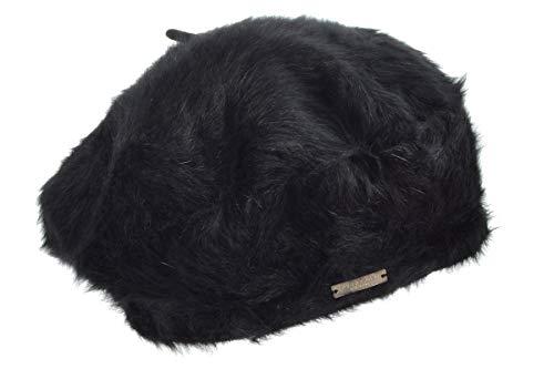 Angora Berretto Basco Seeberger berretto basco da donna berretto basco invernale Taglia unica - nero
