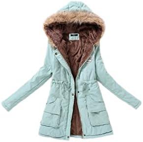 Abrigo de las mujeres de invierno Espesar sudaderas con capucha chaqueta Parka