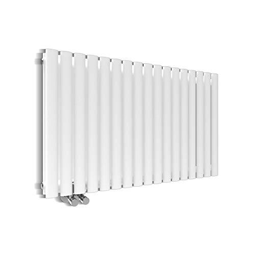 Design Heizkörper Röhren 600x1003mm Doppellagig Badezimmer/Wohnraum Seitenanschluss Weiß Badheizkörper Radiator