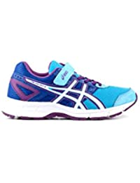 Asics - Zapatillas de Material Sintético para niño Varios Colores Multicolore SOFT BLUE/WHITE/PURPLE Talla:2 USA  /  33,5 EUR