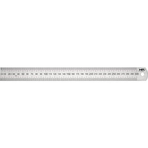 HELIONS PREISSER Stahlmaßstab biegsam EG-Prüfzeichen Genauigkeit II, 500 x 30 x 1,0 mm, 0460208