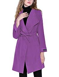 Targogo Übergangsmantel Damen Elegant Frühling Herbst Kordelzug Geschenke  Für Frauen Longsleeve Unifarben Leichte Coat Freizeit Outwear 38c9cff17d