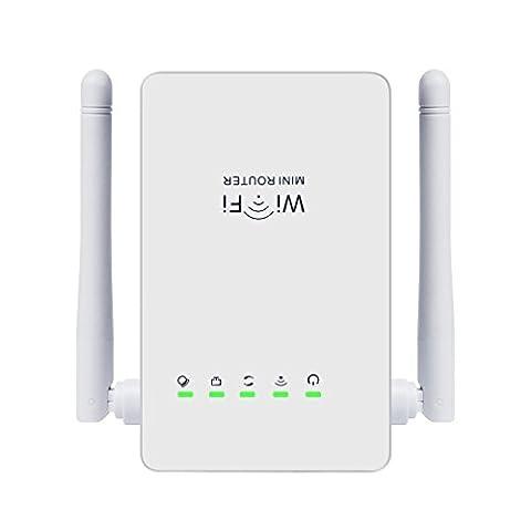 Wifi Wlan Signal Verstärker LESHP Dual Band 300Mbps Multifunktion Mini Wireless-N W-lan Angebot Extender Signal Booster 802.11n / b / g Netzwerk wireless Repeater / Router / AP wifi booster mit WPS (mini