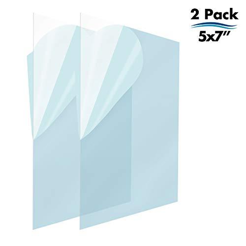 Icona Bay Bilderrahmen aus Glas, Ersatz für PET. PET ist ideales Ersatzglasmaterial, Vermeiden Sie Glassplitterung, Ihr hochwertiger Ersatz-Bilderrahmen ist angekommen. 2 Pack 5x7 (Pet-bilderrahmen 5x7)
