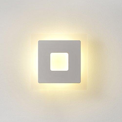 Topmo 18W Lampada da parete a LED applique ideale per Camera da ...
