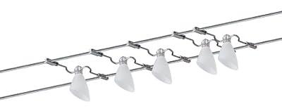 Paulmann 97402 Wire System Caracas 105 5x20W G4 Chrom/ Satin 230/12V 105VA Metall/Glas von Paulmann Leuchten - Lampenhans.de