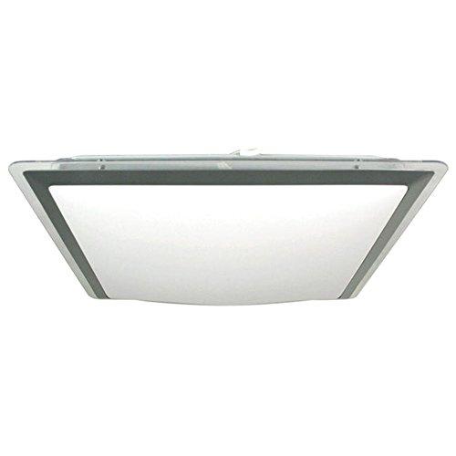 15w led flush square ceiling light with transparant shadewhite light