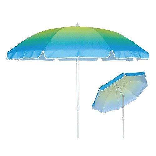 Lively Moments Sonnenschirm Farbverlauf blau bis grün / Strandschirm / Gartenschirm ca. 180 cm