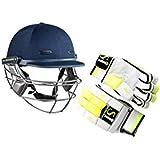 SH SPORTS Cricket Kit,Set Gloves And Helmet(Blue)