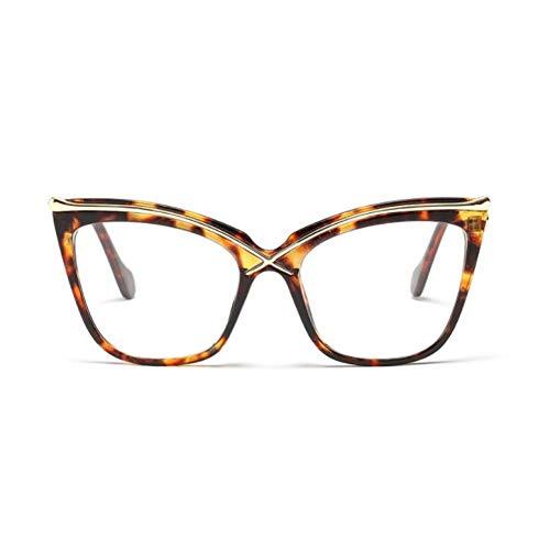 YLNJYJ Sonnenbrillen Damen Cat Eye Brow Linie Brillenfassungen Männer Frauen Markendesigner Optische Brillen Mode Brillen