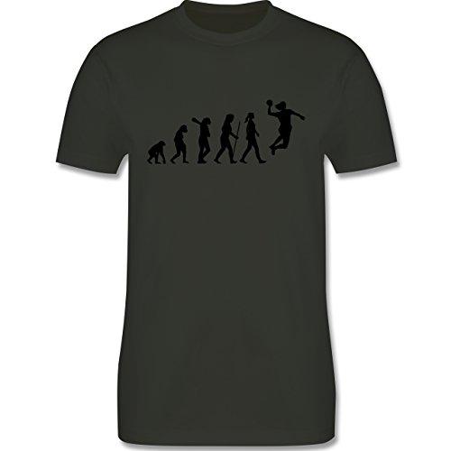 Evolution - Handball Evolution - Herren Premium T-Shirt Army Grün