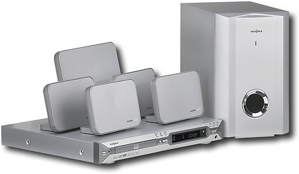 Insignia 500W 5. 1-Ch Home Theater System with Progressive-Scan DVD/CD/MP3 Player