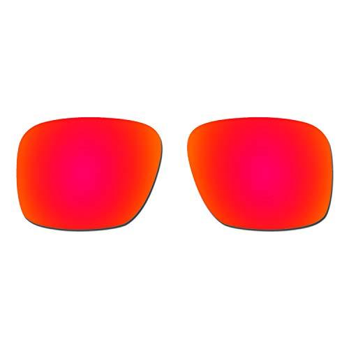 HKUCO Verstärken Ersatz-Brillengläser für Oakley Holbrook XL OO9417 Sonnenbrille Rot Polarisiert
