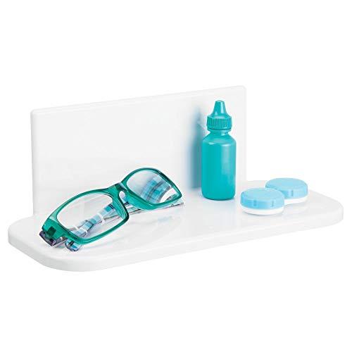 MDesign Estante de baño Autoadhesivo de plástico sin BPA - Estantería de Ducha pequeña para el Espejo...