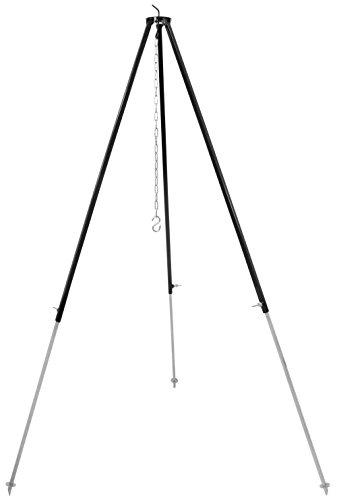 dutch oven dreibein Grillplanet 1054 Gulaschkessel Schwenkgrill Gestell Dreibein , ca. 180 cm, schwarz