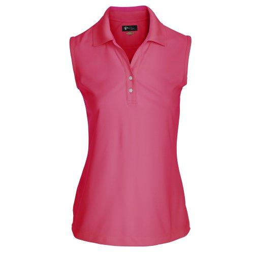 Poloshirt Damen oder Herren mit Farbauswahl - atmungsaktives kurzarm T-Shirt für Golf oder Freizeit - Polohemd im sportlichem Look (S, Damen Pink) (Collection Golf-shirt Damen)
