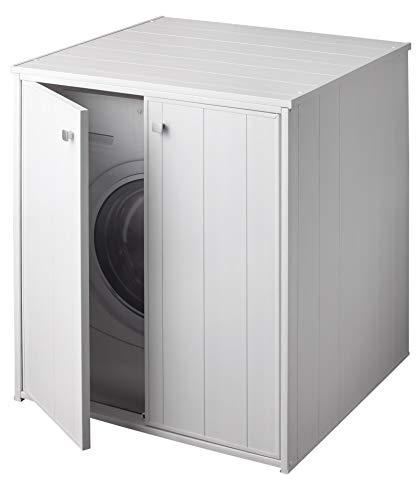 Forlani coprilavatrice da esterno in pvc 77x71x94cm 2 ante laundry xxl bianco