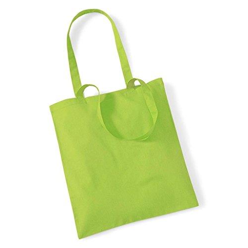 Borsa Promozionale Westford Mill Per Vita, Cotone, Tracolla, Shopper, Borsetta, Taglia Unica Verde - Verde Lime