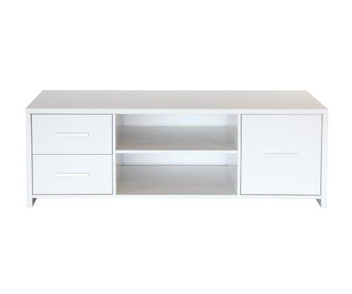 Steens Group 3257230050000F Astrup Table TV MDF Blanc 140 x 49 x 47 cm
