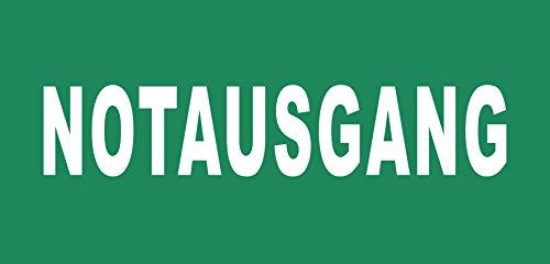 Notausgang Schild -1508t- Notausgang grün 29,5cm * 20cm * 2mm, mit 4 Tesa-Powerstrips